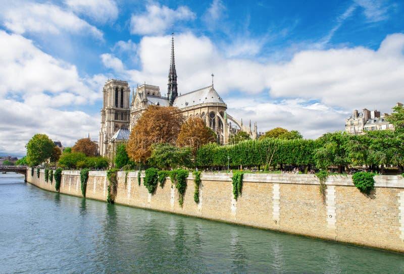 Notre Dame De Paris, France Famous Landmark Stock Photos