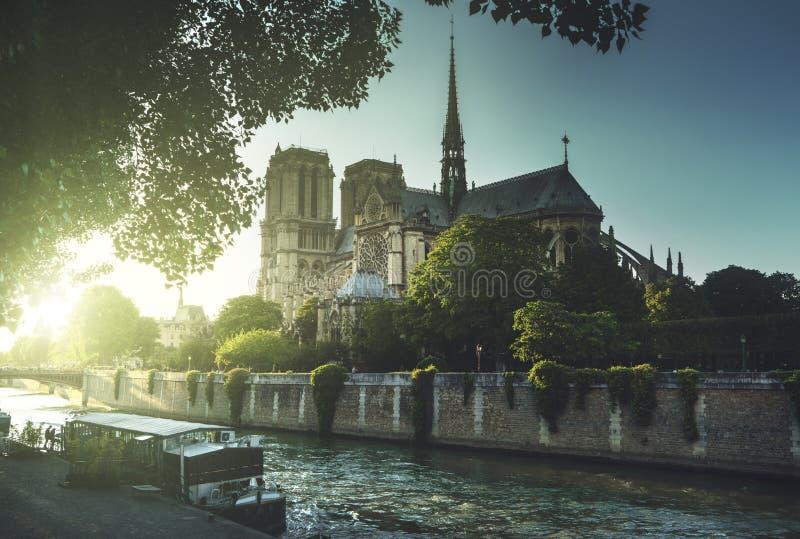 Notre Dame de Paris, Frankrike royaltyfri bild