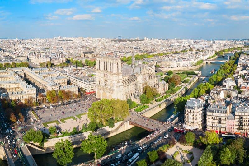 Notre Dame de Paris, Frankrike arkivfoto