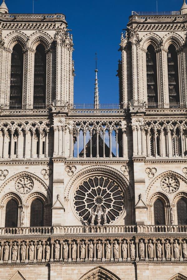 Notre Dame de paris Frankrike arkivfoto