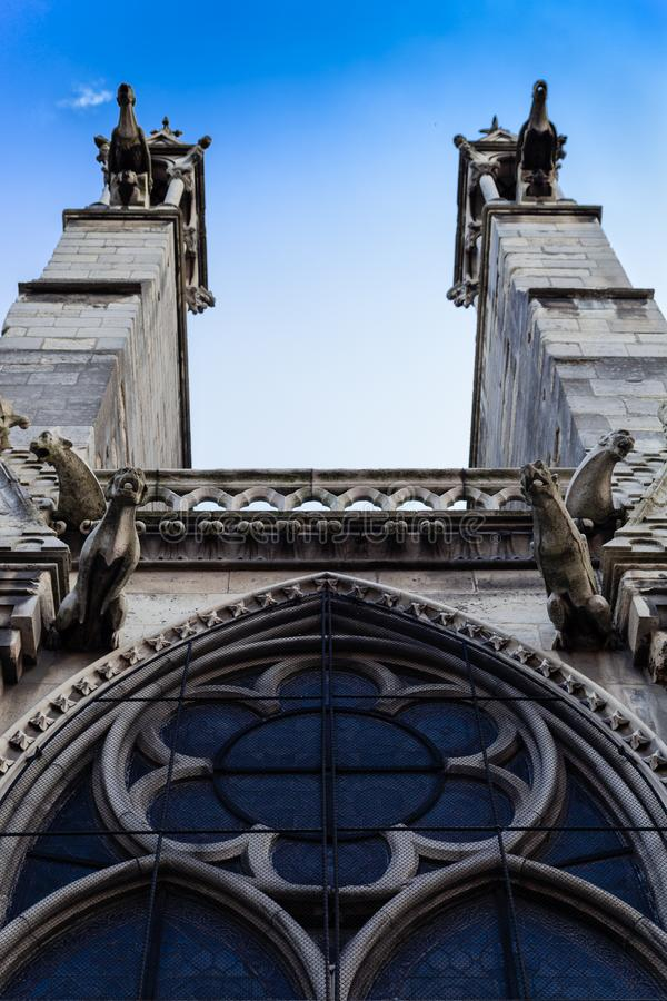 Notre Dame de paris Frankrike royaltyfri bild