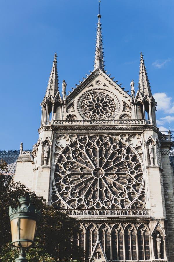 Notre Dame de paris Frankrike arkivbild