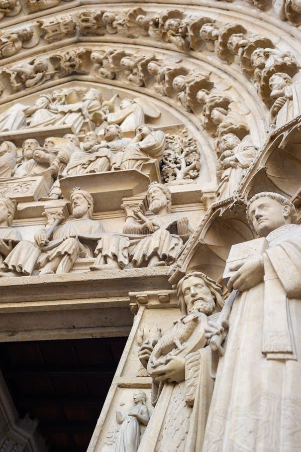 Notre-Dame de Paris royalty-vrije stock foto's