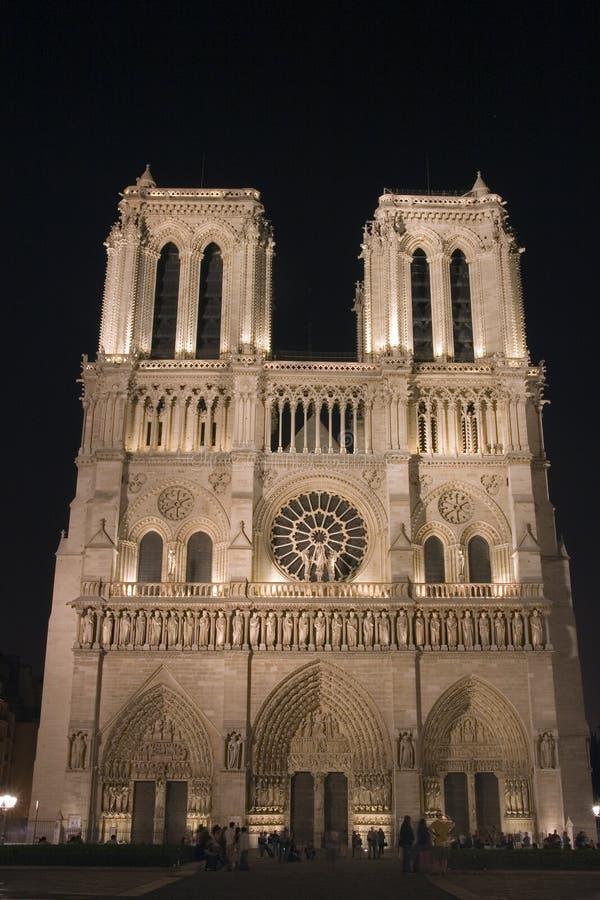 Notre-Dame de Paris illuminated. Paris. France royalty free stock photography