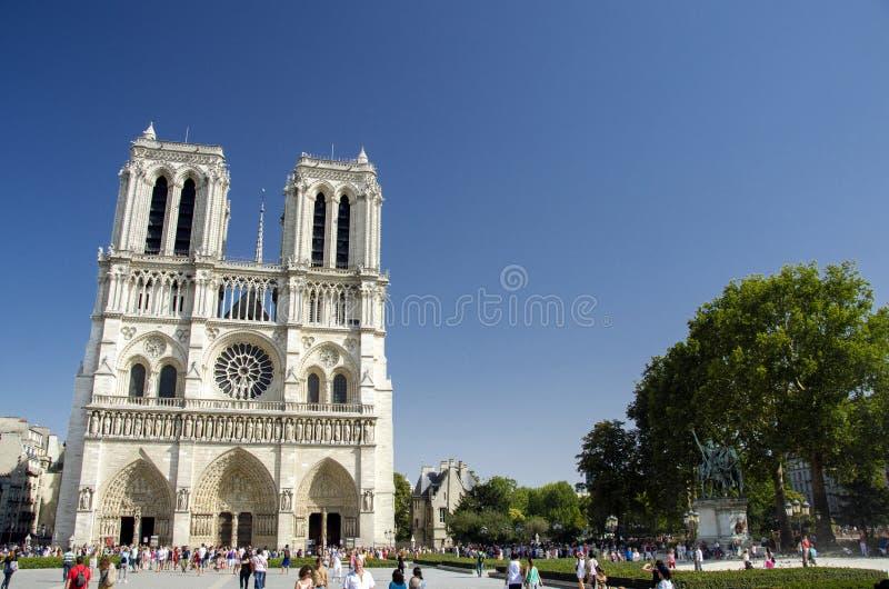 Notre Dame de Paris, Paris, France. Notre Dame de Paris (IPA: [nɔtʁ dam də paʁi]; French for Our Lady of Paris), also known as Notre Dame Cathedral stock photo