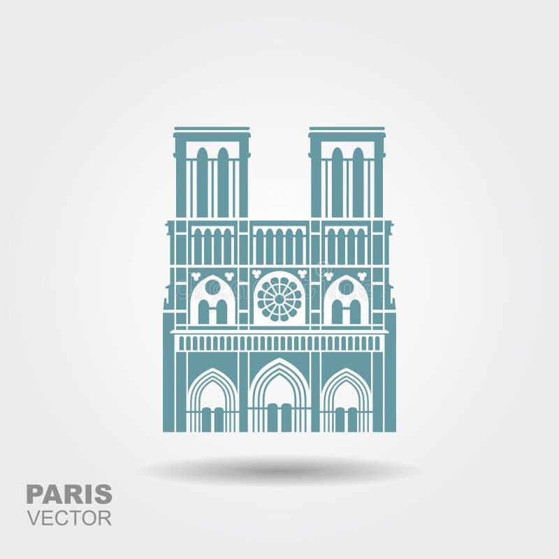 Notre Dame De Paris katedra, Francja royalty ilustracja