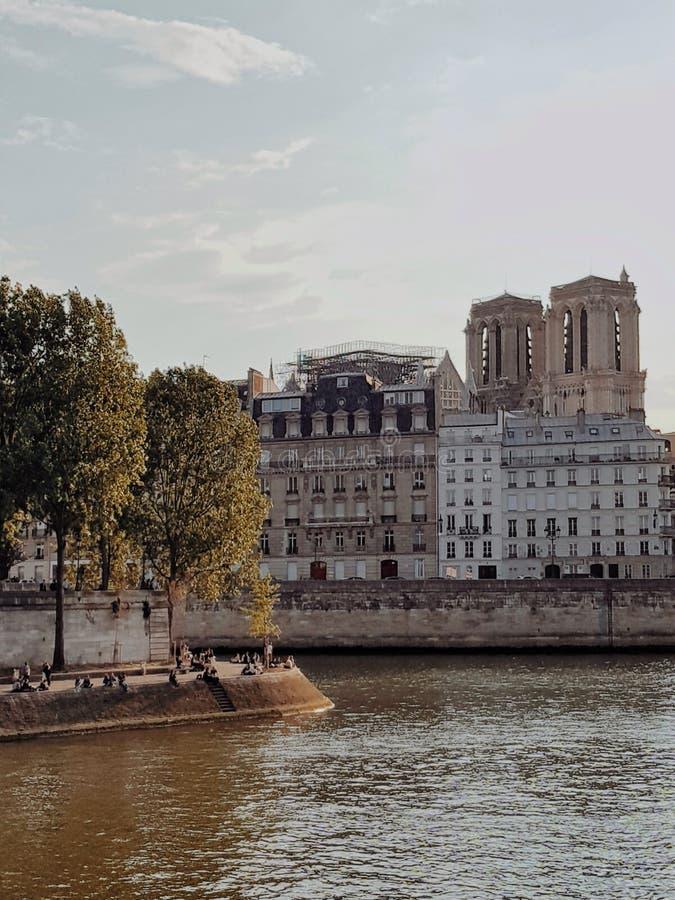 Notre-Dame de Paris without the spiral, Paris, France. Notre notre-dame paris spiral prais france stock images