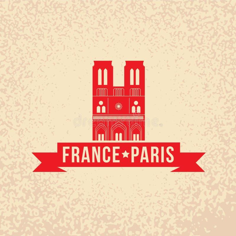 Notre Dame De Paris - symbol Francja ilustracja wektor
