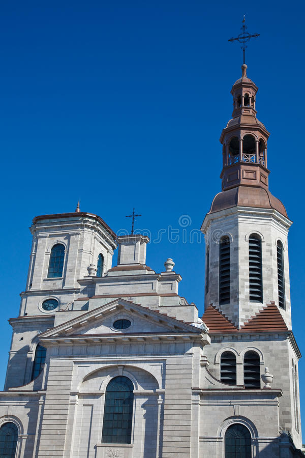 Notre-Dame de Quebec Cathedral royalty free stock photo
