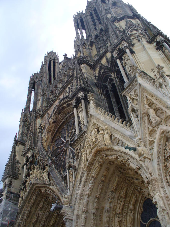 Notre Dame de Reims, France royalty free stock images