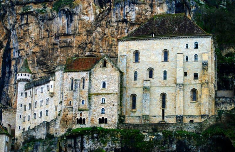 Notre Dame de Rocamadour Monastery en France photographie stock libre de droits