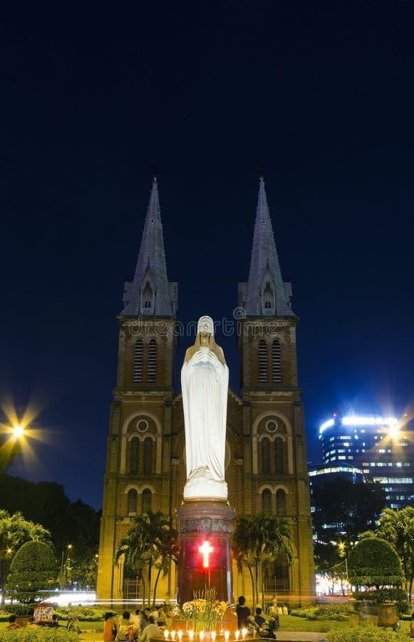 Notre Dame de Saigon foto de stock royalty free