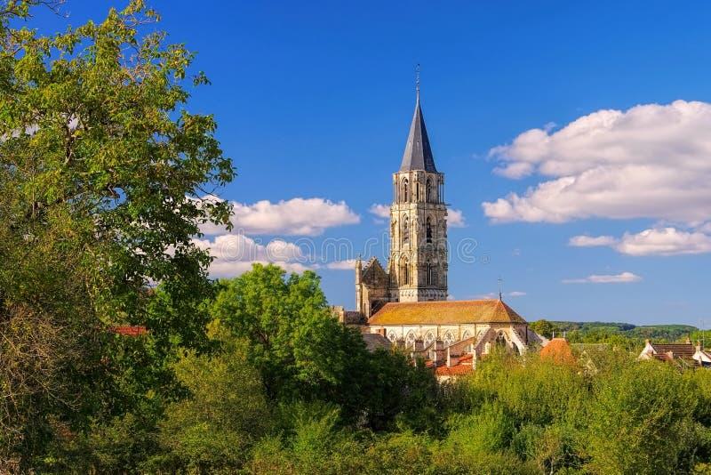 Notre-Dame de Saint-Pere-sous-Vezelay, Burgundy royalty free stock image