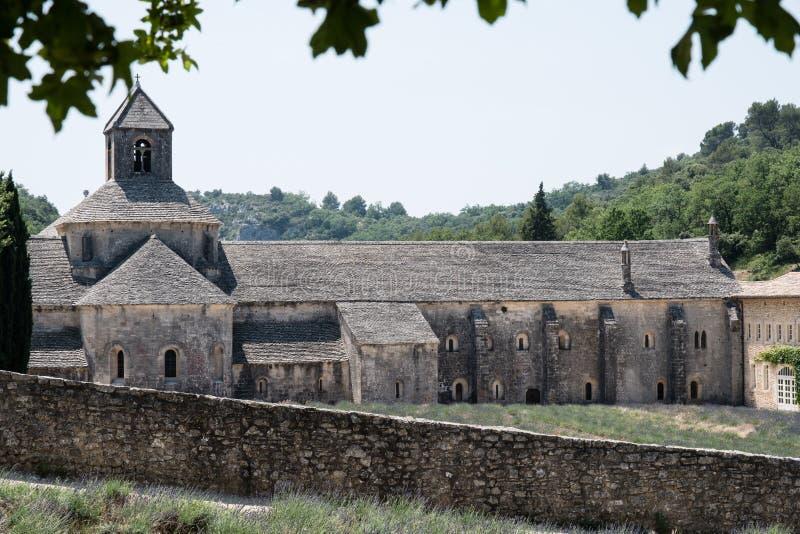 Notre Dame de Senanque Abbey在普罗旺斯,法国 免版税图库摄影