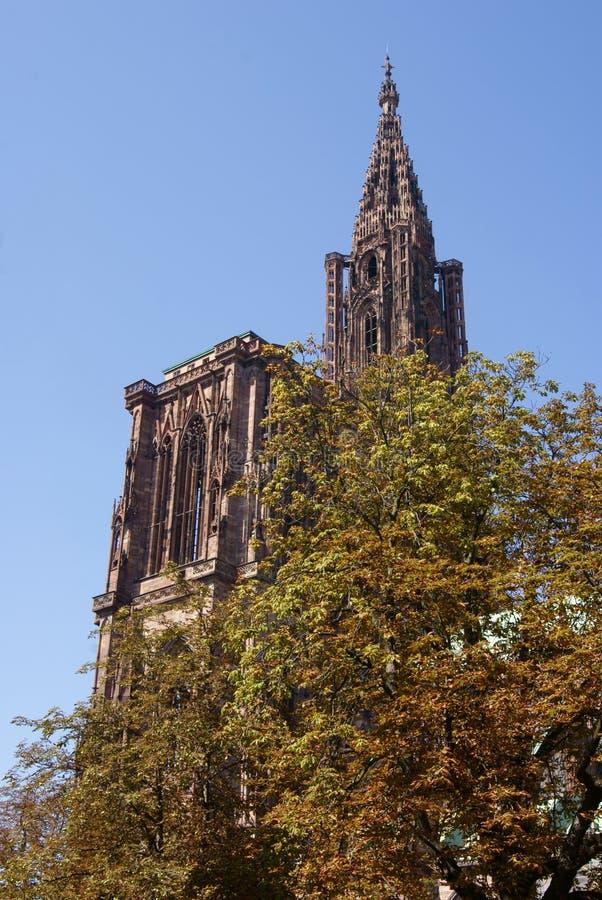 Notre Dame de Strasbourg stock image
