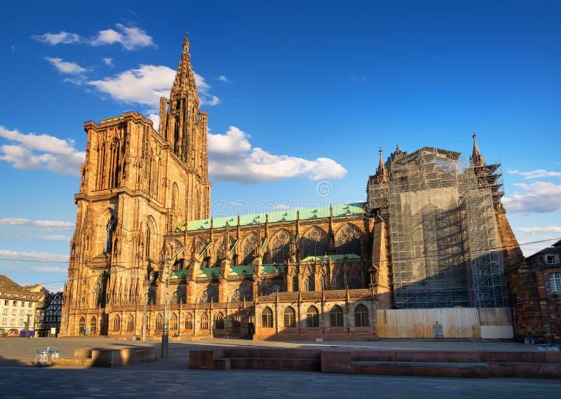 Notre Dame de Strasbourg royalty free stock photography