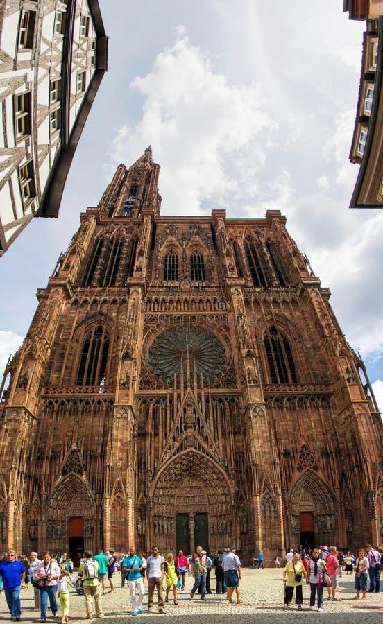 Notre-Dame De Strasbourg Panorama stock images