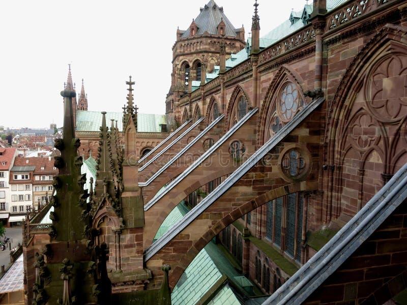 Notre Dame de strasbourg, Strasbourg, Frankrike arkivbilder