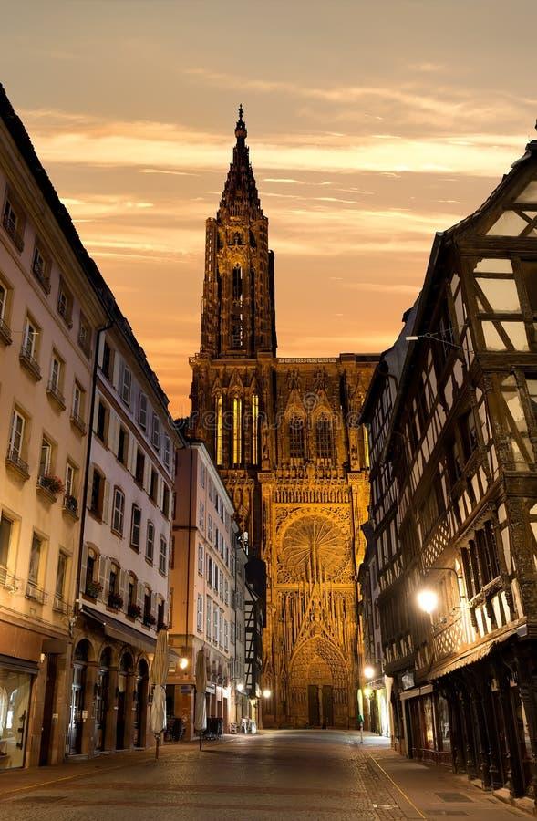 Notre Dame de Strasburgo immagini stock