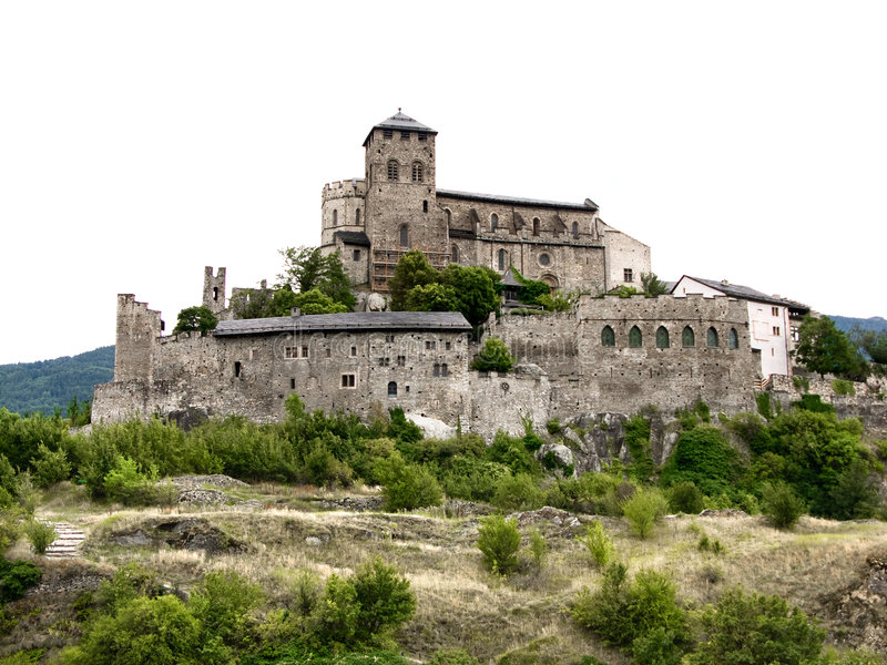 Notre Dame de Valere (Sion) stock images