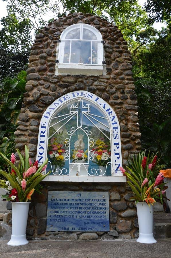 Notre Dame-DES Larmes - unsere Dame in Tränen - eine Kapelle in Guadeloupe stockfotografie