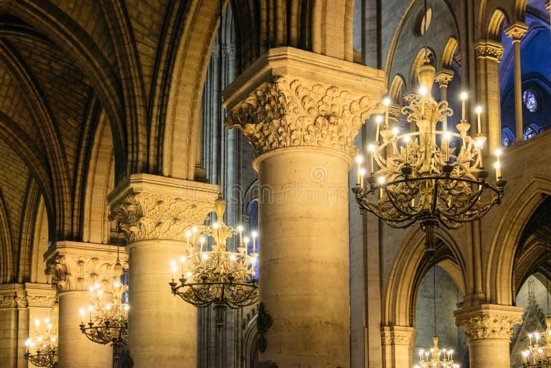 Notre Dame Detail stock afbeeldingen