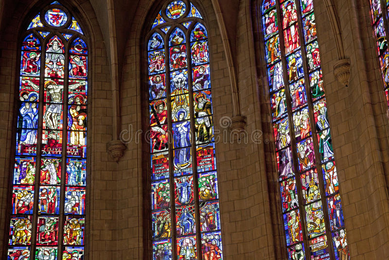 Notre Dame domkyrka i Luxembourg royaltyfria foton
