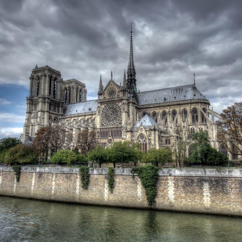 Notre Dame domkyrka, Paris royaltyfria bilder