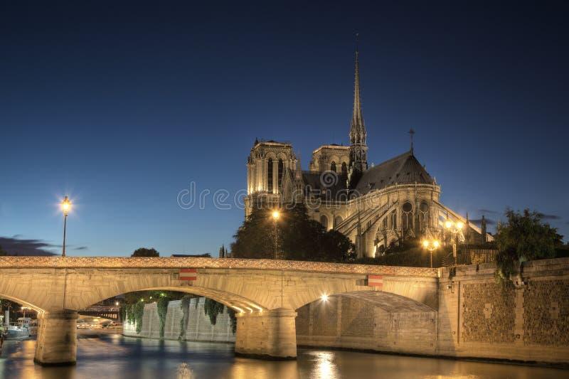 Notre Dame domkyrka, Paris arkivfoto