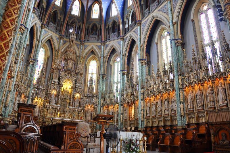 Notre Dame domkyrkaBasilica, Ottawa arkivfoton