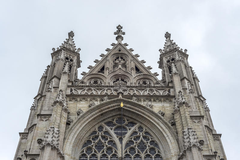 Notre-Dame du Sablon royaltyfri fotografi
