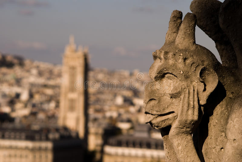 Notre dame figure royalty free stock image