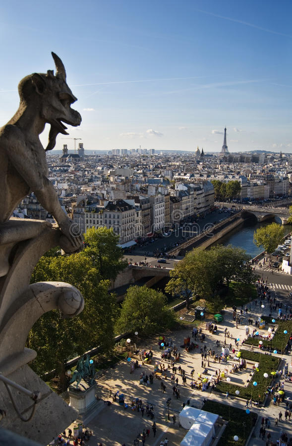 Notre dame figure stock images