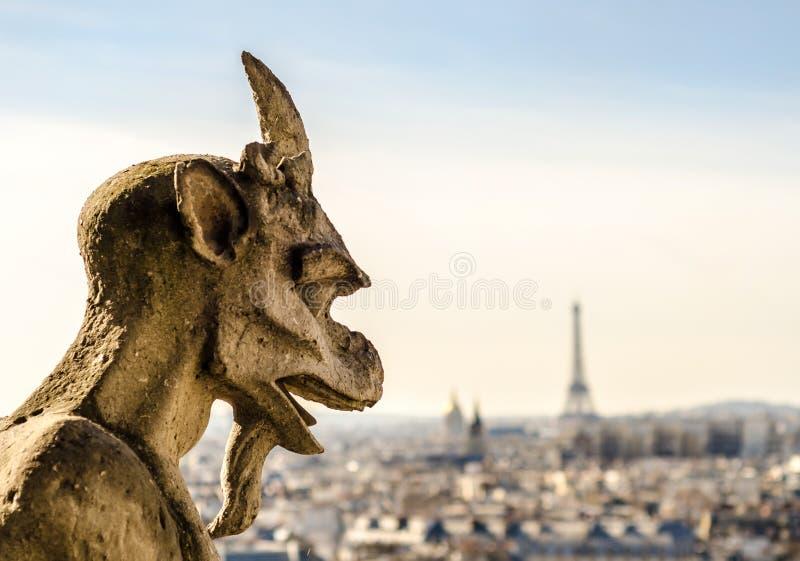 Notre Dame Gargoyle images libres de droits
