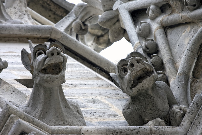 Download Notre-Dame Gargoyles stock photo. Image of figure, gargoyle - 8421588