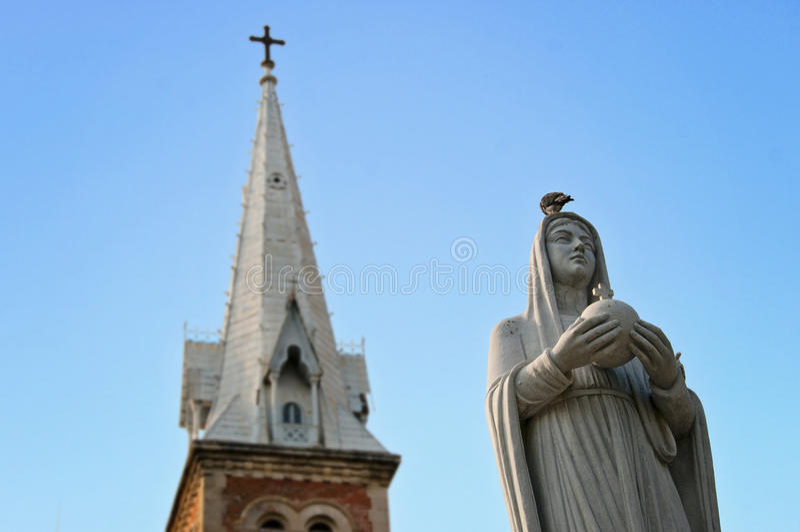 Notre Dame Ho Chi Minh City. Regina Pagis and Notre Dame Ho Chi Minh City royalty free stock photos