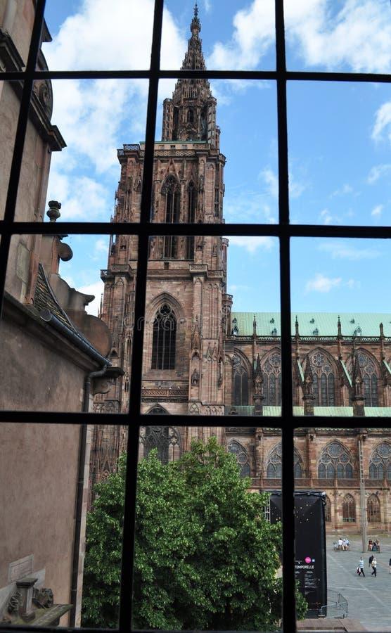 Notre Dame i Strasbourg arkivbild