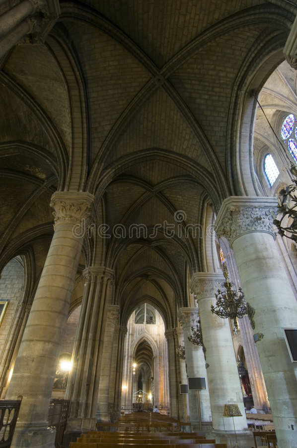 Notre Dame Interior stock images