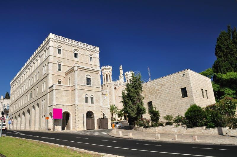 Notre Dame Jerusalem. arkivbild