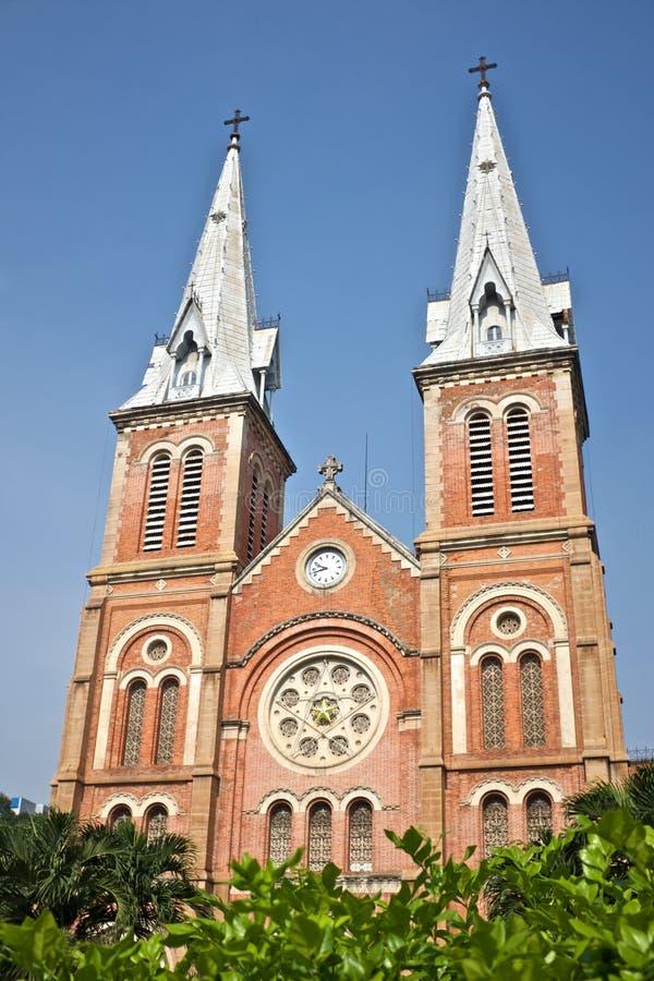 Notre Dame kyrka Ho Chi Minh arkivfoton