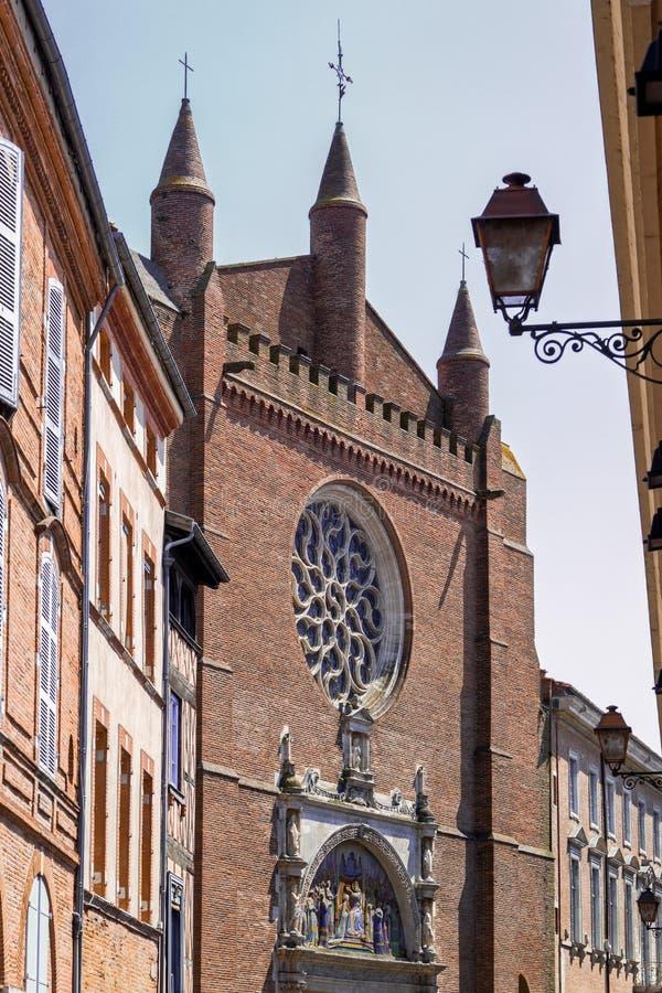 Notre Dame La Dalbade教会在图卢兹 库存照片