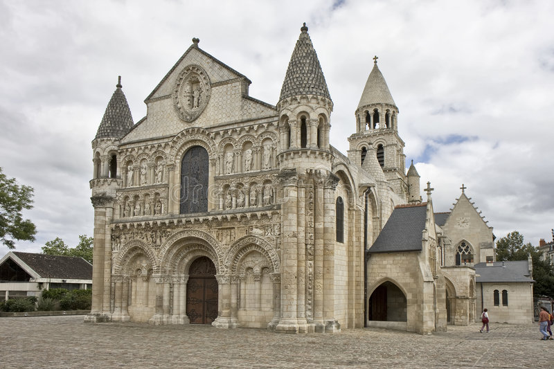 Notre Dame la Grande, Poitiers royalty free stock images