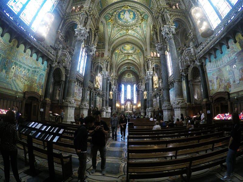 In Notre Dame Lyon stockfoto