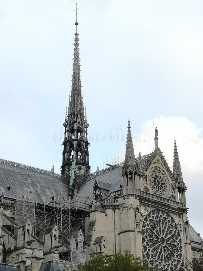 Notre-Dame, the most famous of the Gothic cathedrals ,Paris, France , landmark. Notre-Dame, the most famous of the Gothic cathedrals of the Middle Ages, one of royalty free stock photography