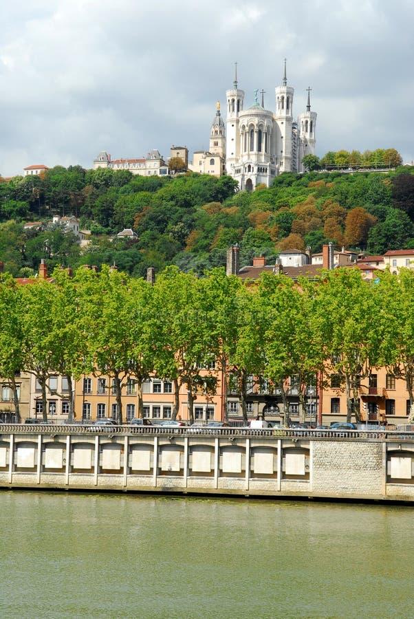 Notre-Dame nel à Lione di Fourviere fotografia stock