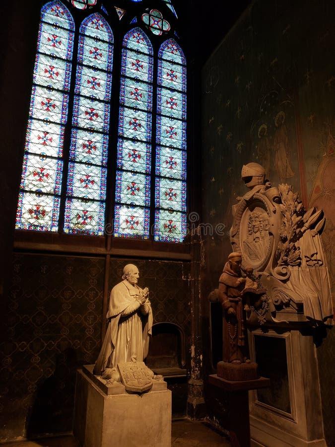 Notre Dame Outside Paris France fotografia de stock