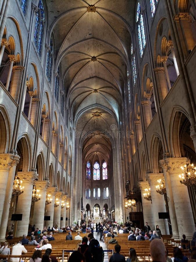 Notre Dame Outside Paris France royalty-vrije stock afbeelding