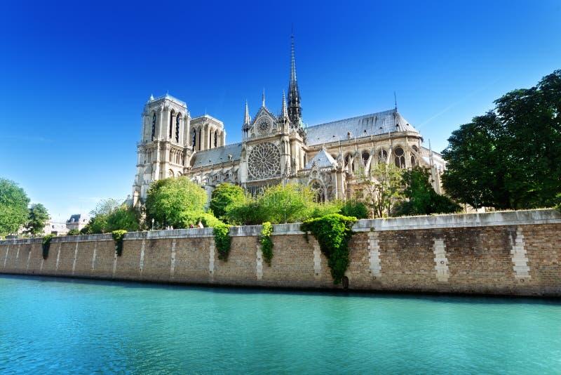 Notre Dame Paris, Frankrike fotografering för bildbyråer