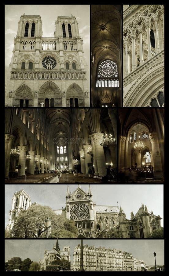 Notre-Dame Of Paris On Grunge Stock Photo