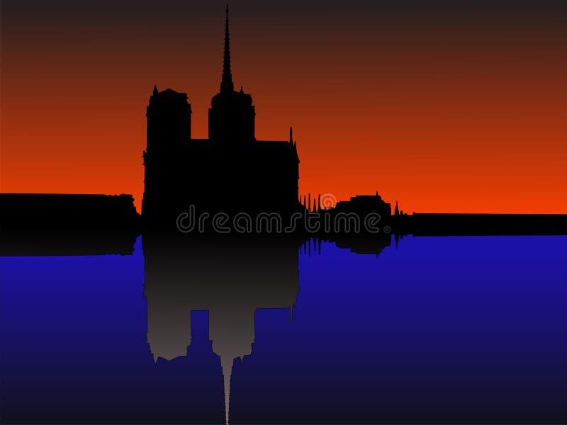 notre dame Paryża ilustracja wektor